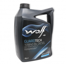 Wolf Guardtech 10W40 B4 DIESEL SL/CF, A3/B4 - мастило напівсинтетичне для двигуна, 5л