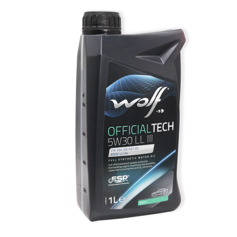 Wolf Officialtech 5W30 LL III SP, C3 - мастило синтетичне для двигуна, 1л