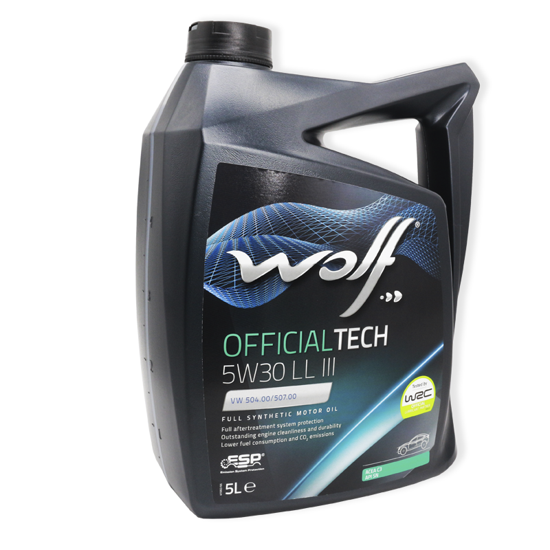 Wolf Officialtech 5W30 LL III SP, C3- мастило синтетичне для двигуна, 5л