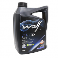 Wolf Vitaltech 5W30 D1 SN/RC, ILSAC GF5 - мастило синтетичне для двигуна, 4л