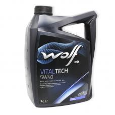 Wolf Vitaltech 5W40 SN/CF, A3/B4 - мастило синтетичне для двигуна, 4л
