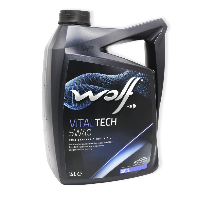 Wolf Vitaltech 5W40 SN/CF, A3/B4 - мастило синтетичне для двигуна, 4л