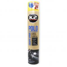 Полироль для пластика з ароматом персика та глянцевим ефектом K2 Polo cockpit, K4071, 750мл